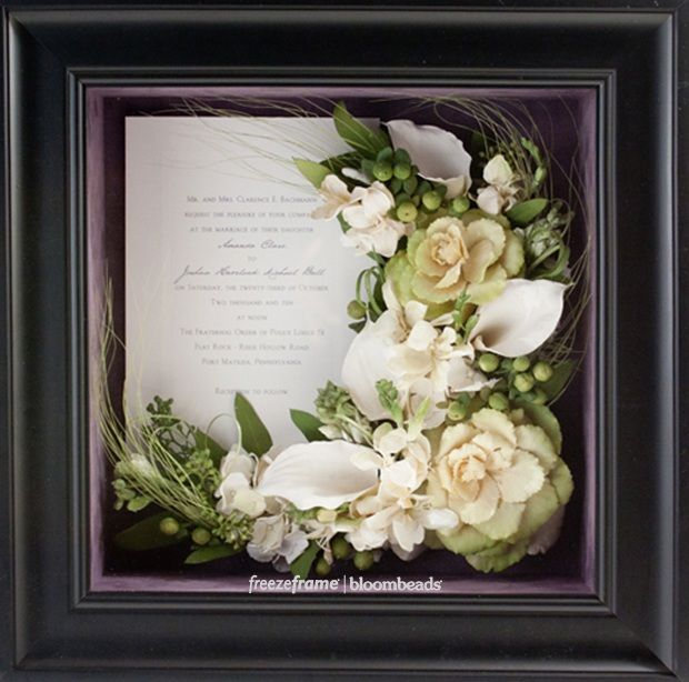Frame Your Wedding Flowers