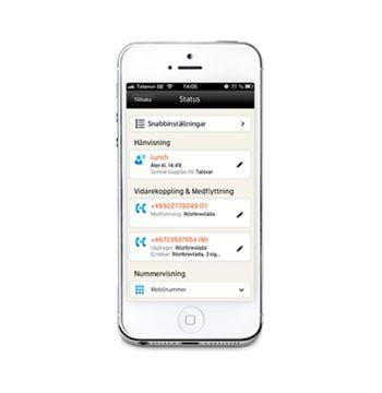 Telenor One-appen ger dig möjlighet att sköta företagets växeltjänster direkt i mobilen.