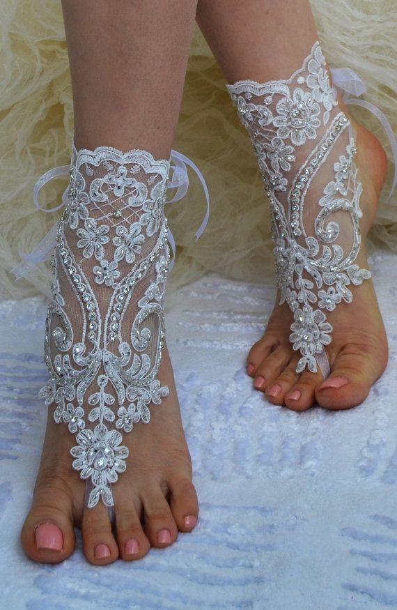 beach shoes,Unique design, bridal sandals, ivory accessories, wedding shoes, handmade lariat sandals, wedding bridal, bridesmaid
