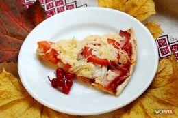 Пицца с плавленым сырком - рецепт с фото