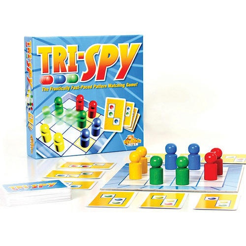 Winner of the 2009 Parents' Choice Silver Award, Tri-Spy is a frantically fast-paced game challenging players to think, look and react quickly while attempting to spot and match patterns. Tri-Spy is the ultimate visual spatial challenge that promotes concentration, pattern recognition and problem solving!  $14.99  http://www.calendars.com/Board-Games/Tri-Spy-Board-Game/prod201100009981/?categoryId=cat430008=cat430008#