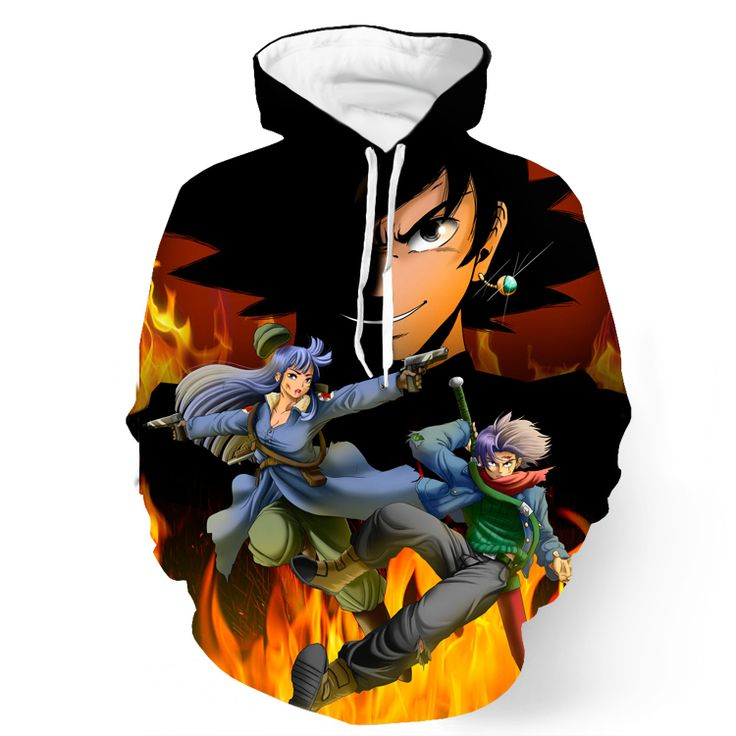 DBZ Goku Saiyan Potara Fusion Medic Warrior Fight Sword Pocket Hoodie