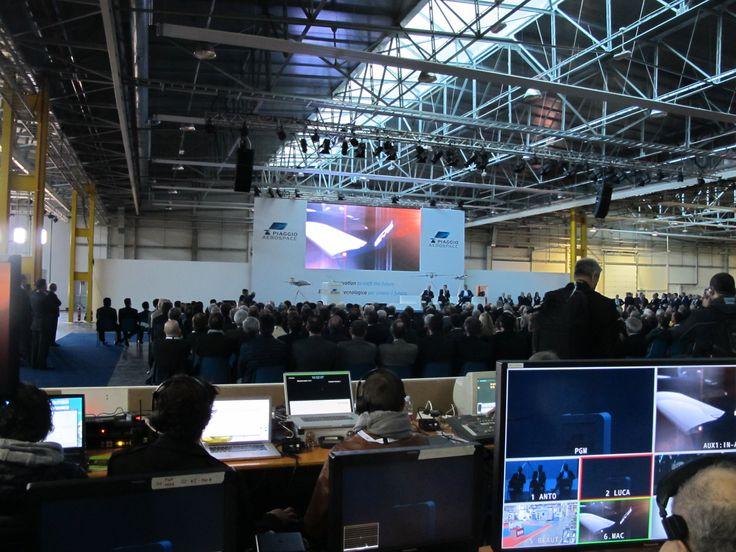 Backstage #Piaggio Aerospace: inaugurazione del nuovo stabilimento di Villanova d'Albenga