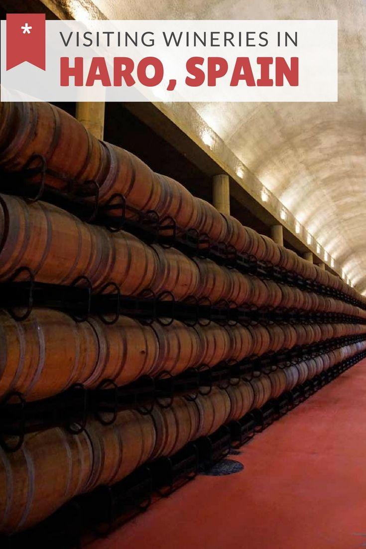 Visiting wineries in Haro, Spain