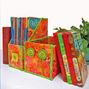 Fused and folded magazine holders
