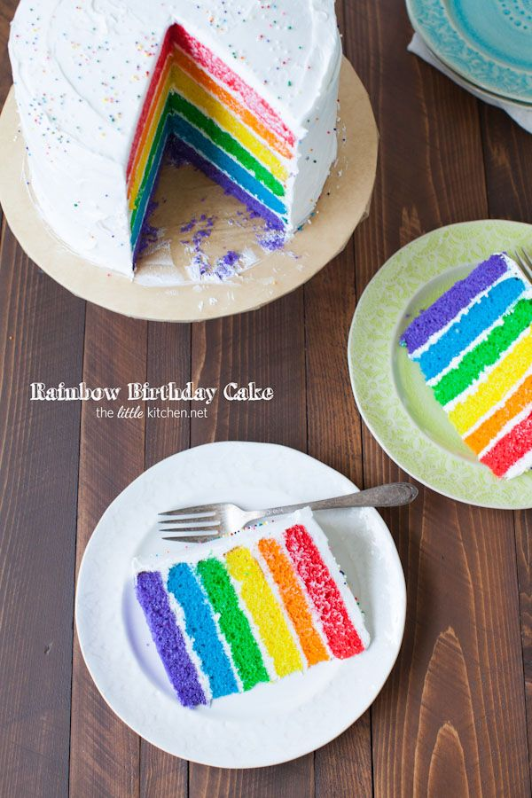 Rainbow Birthday Cake from @TheLittleKitchn