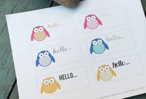 Freebie: Hello Owl Labels