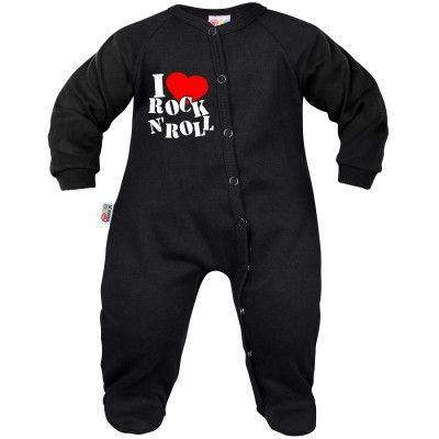 Pyjama bébé rock : I love ROCK n ROLL (7 coloris au choix)