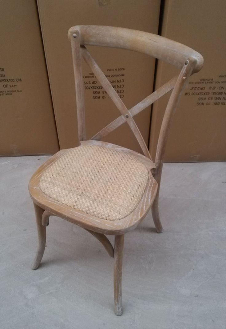 wholesale wood x cross back dining chair with cushion for