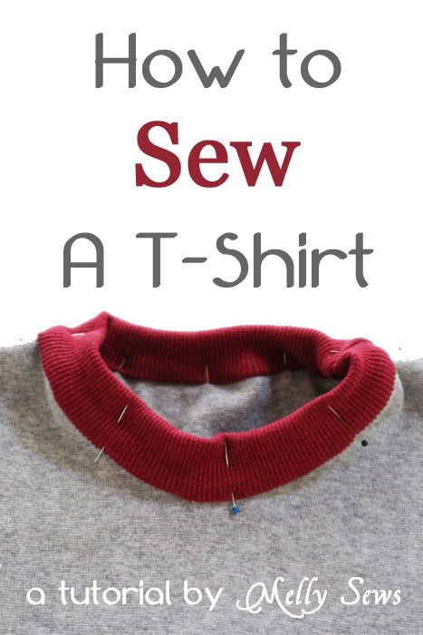 Learn how to sew a t-shirt from scratch, with links to free t-shirt patterns, t-shirt variations, and how to make your own t-shirt pattern.