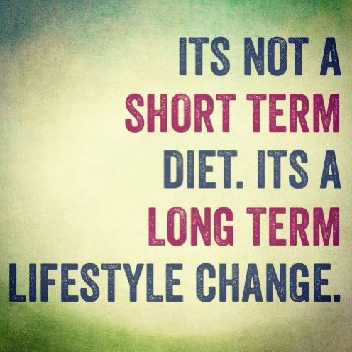 It's not a short-term diet. Is a long-term lifestyle change.