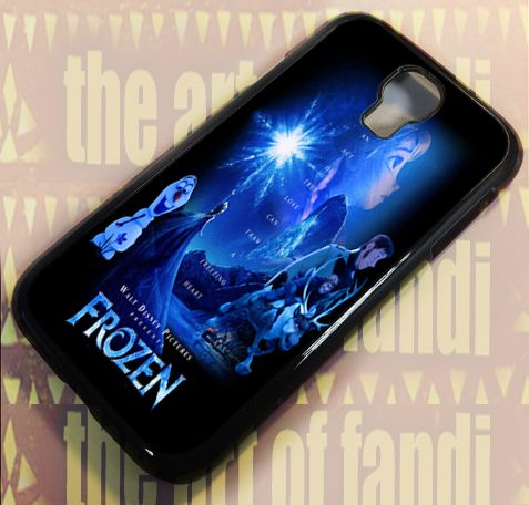 Elsa Disney Frozen Quote For Samsung Galaxy S4 Black Rubber Case