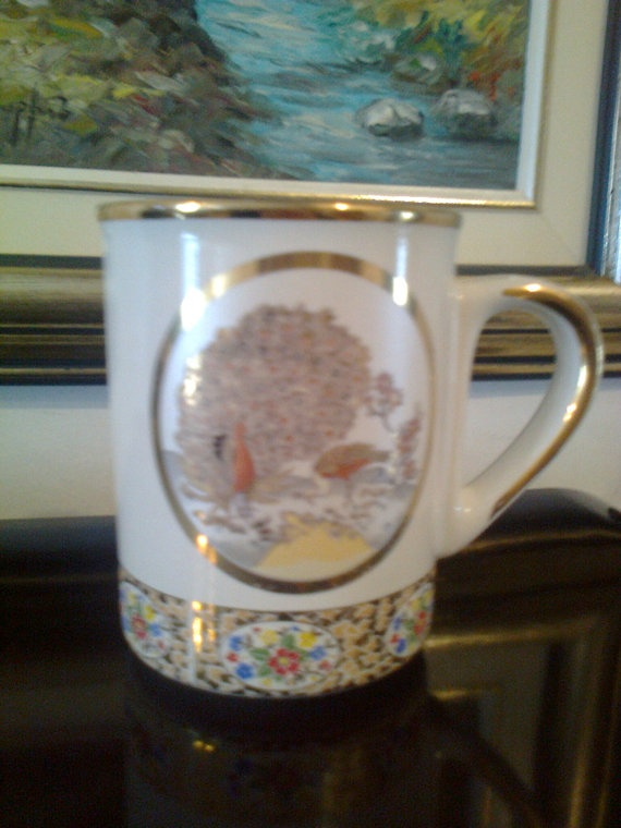 Handmade and hand painted  porcelain mug from the by Lionsoul, €25.00