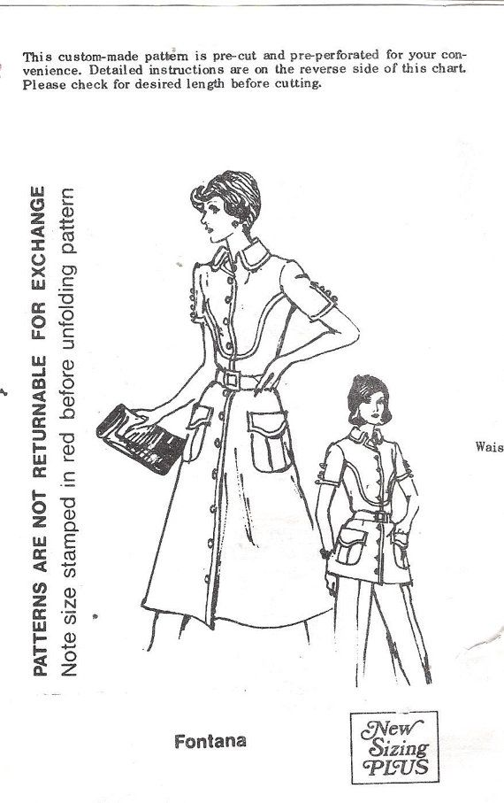 Vintage 1970's Spadea 70324 and 70364 Fontan designed Dress, Tunic and Pants Sewing Pattern, offered on Etsy by GrandmaMadeWithLove