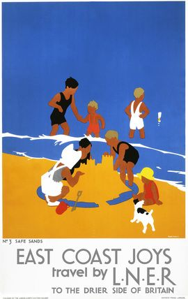 'East Coast Joys', LNER poster, 1932. by Tom Purvis. via Science and Society picture library
