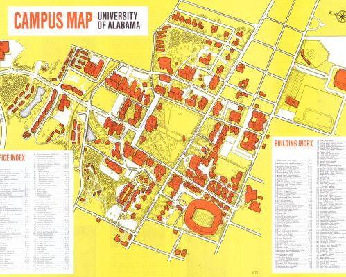 University Of Alabama Campus Map  University Of Alabama