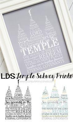 Temple Subway Art Printable
