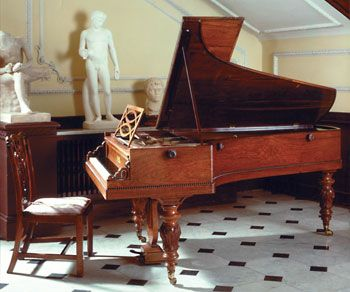 Chopin, who preferred Pleyel pianos above all others,chose this piano after he returned to Paris in November 1848, following a 7 month sojourn at Nohant, the country house of Georges Sand. It would seem to be the piano depicted in his salon at the Square dOrléans in a lost watercolour of which a photograph survives. In lettersChopin referred to it as my own instrument.