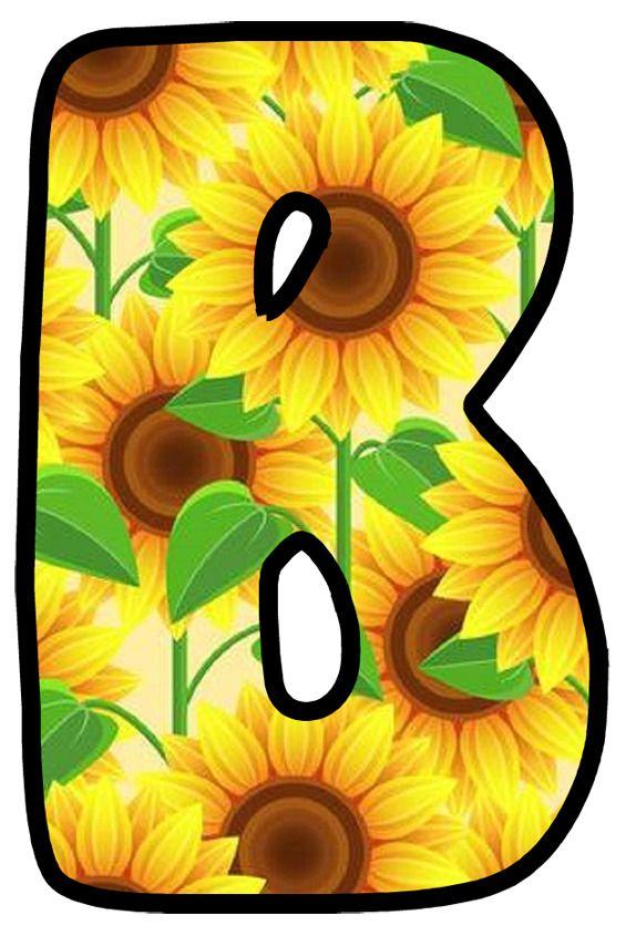 Buchstabe - Letter B | Moldes de letras, Girasoles, Letra b