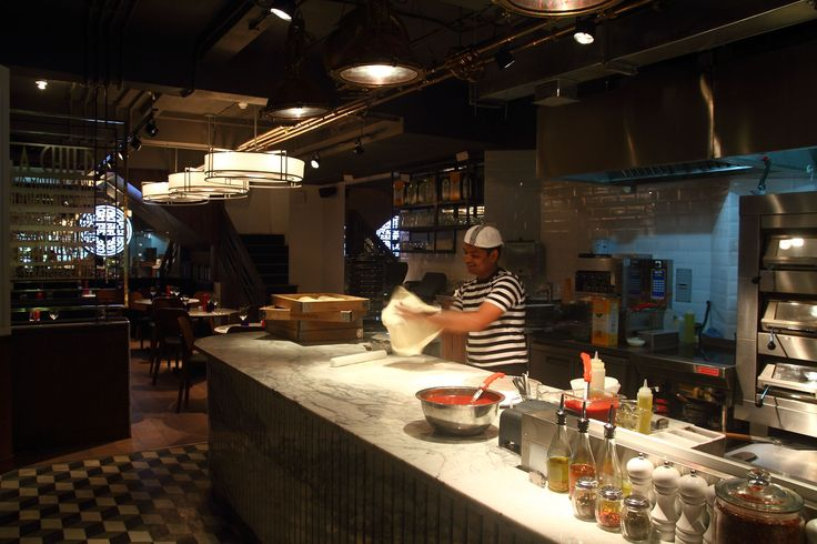 Restaurant Open Kitchen Design Open Kitchen Counter And