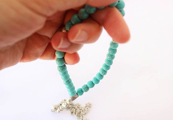 Turquoise Prayer Beads 33 Tasbih Tesbih by asteriascollection