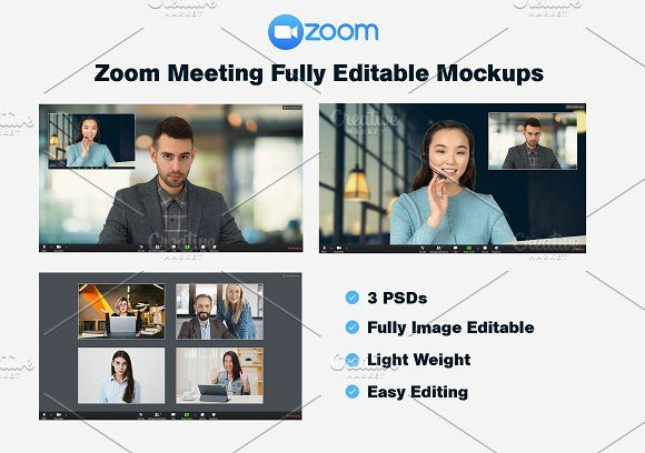 Zoom Meeting Mockup Kit By Zp Design On Creativemarket Ad Affiliate Mockup Meeting Weight