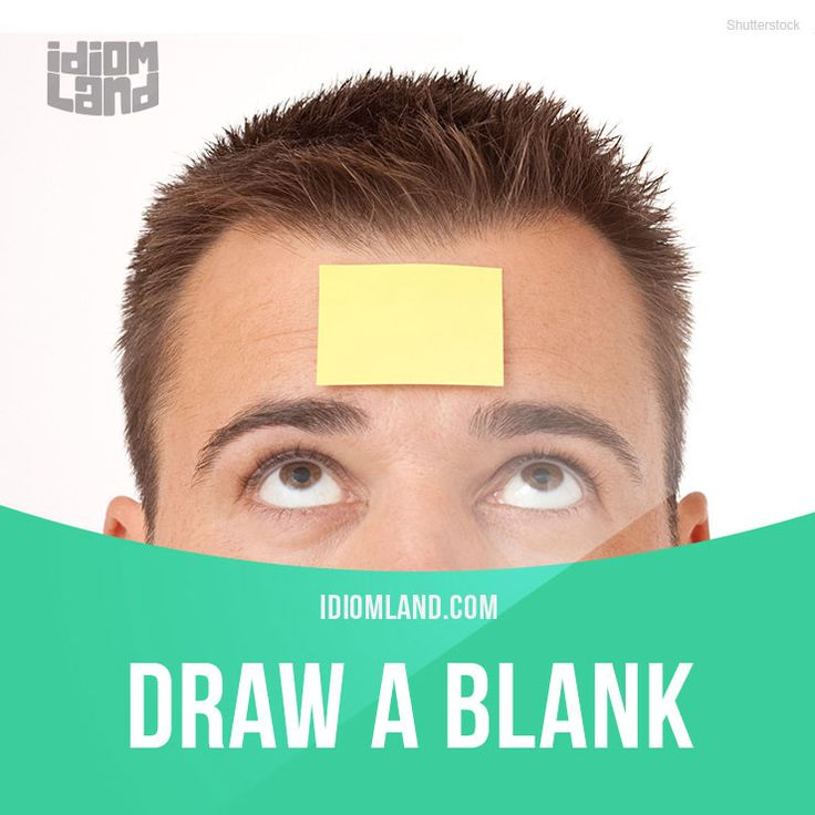 """""""Draw a blank"""" means """"to fail to get information or remember something"""". Example: Billy drew a blank when he attempted to remember the time of his doctor's appointment. Get our apps for learning English: learzing.com"""