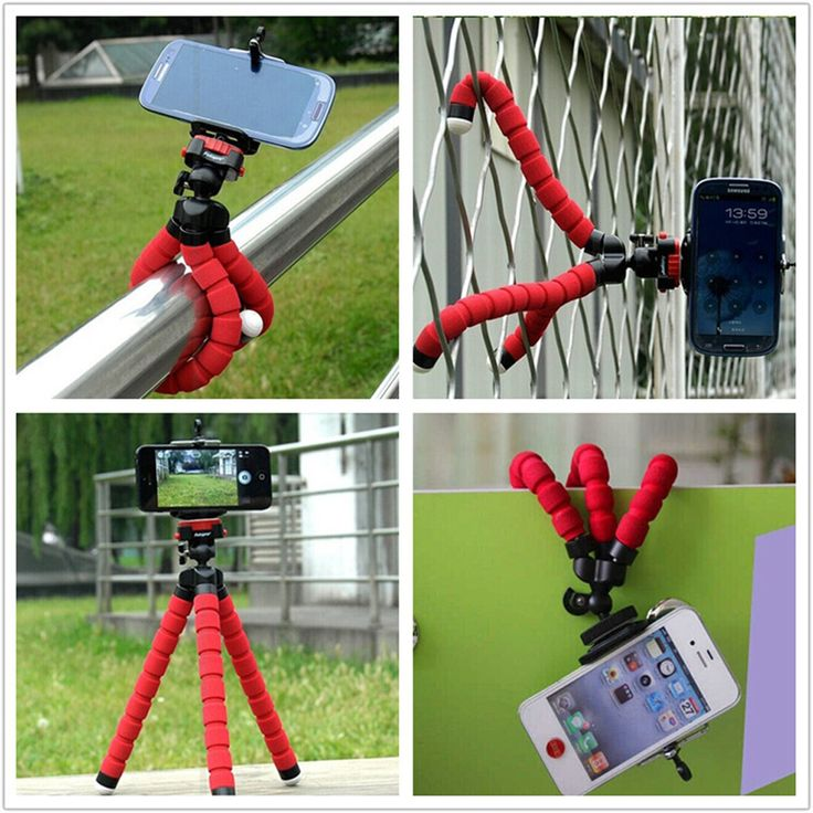 1 Car Phone Holder Flexible Octopus Tripod Bracket Selfie Stand Mount Monopod for iPhone 4 5 6 Samsung LG Android pau gopro