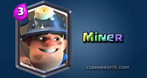 Find out all about the Clash Royale Miner Card. How to get Miner & attack/counter Miner effectively.