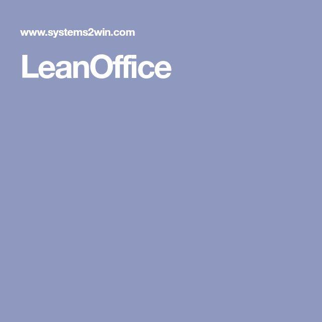 Leanoffice Lean Office Process Improvement Business Technology