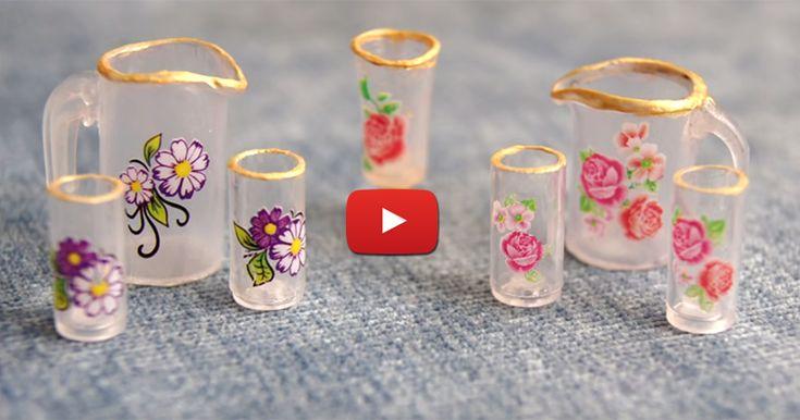 Видеоурок: как сделать миниатюрную прозрачную посуду - Ярмарка Мастеров - ручная работа, handmade