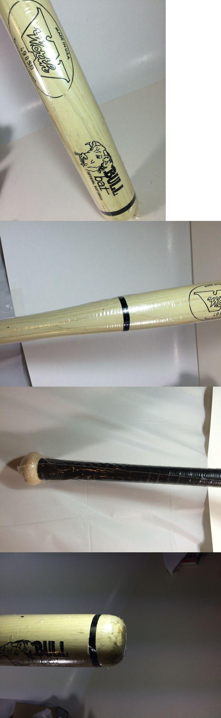 Other Baseball and Softball Bats 181316: Worth Wooden #498 Sb Wood Softball Bull Bat Marked #4 Nip 34 Long -> BUY IT NOW ONLY: $67.99 on eBay!