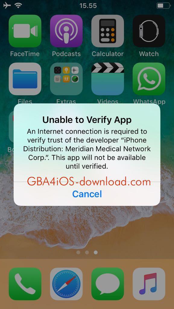 Fix Error Unable to Verify GBA4iOS App | Verify | Verify