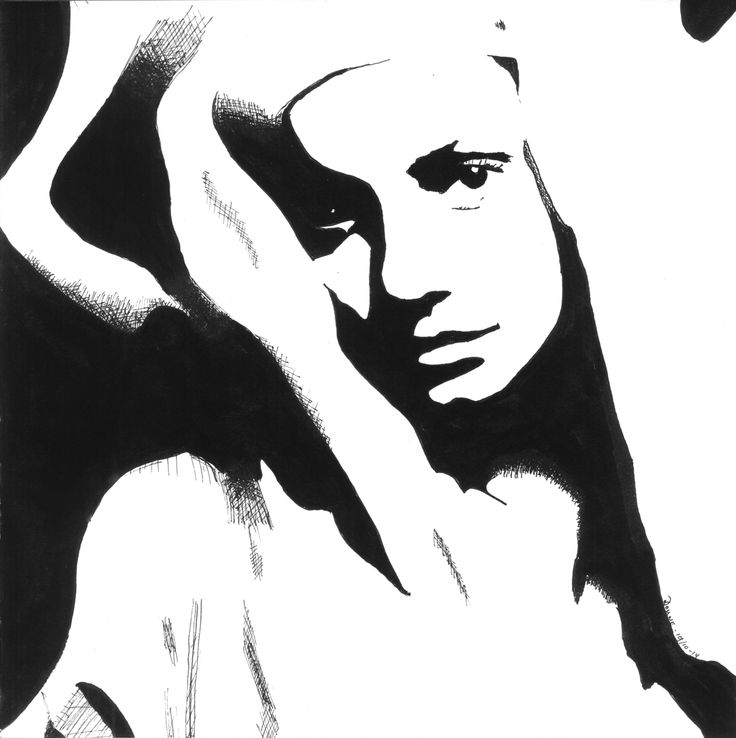 Black ink drawing