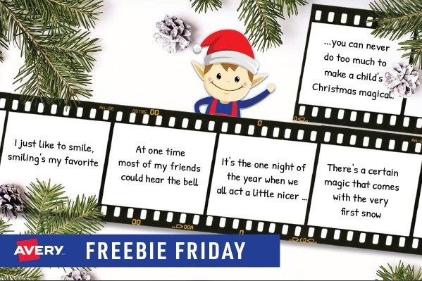 Avery Holiday Freebie Friday Giveaway Chance To Win Prize Packs Freebie Friday Giveaway Holiday
