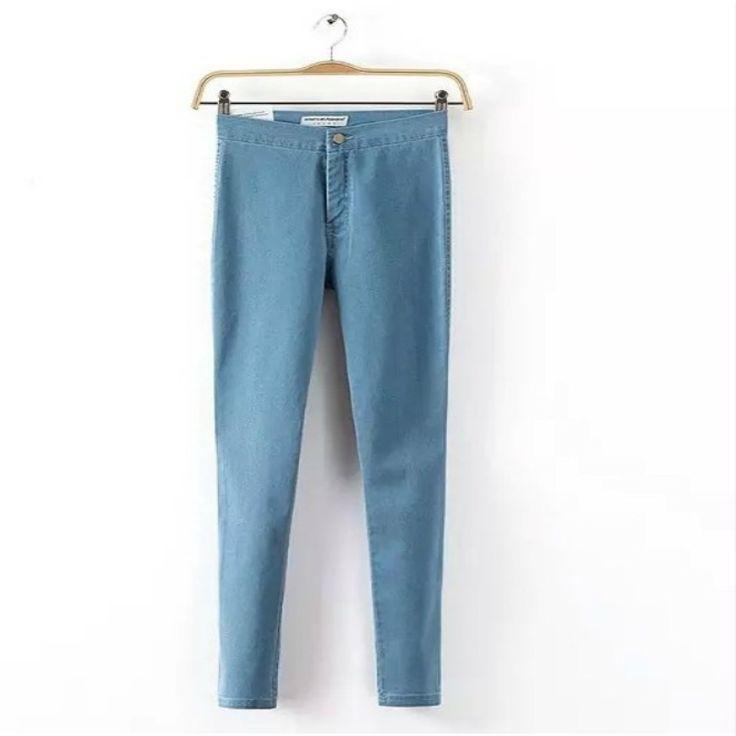 אישה ג 'ינס דנים ג' ינס מותן גבוה לנשים 2016 שחור עיפרון נשים של מכנסיים ג 'ינס סקיני ג' ינס נשים ג 'ינס כחול Femme מכנסיים