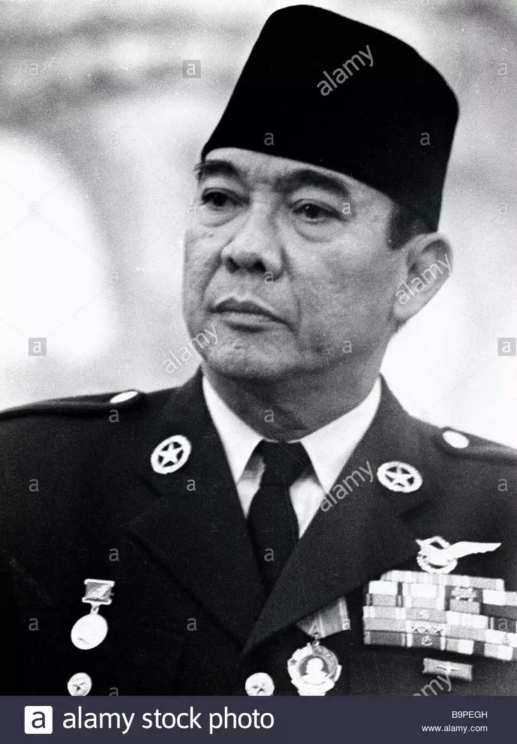 Sukarno the President of Indonesia