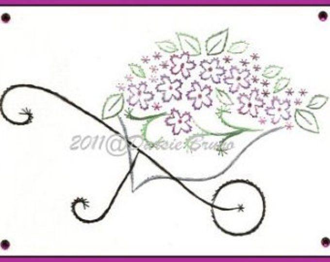 Bloemenpatroon kar Floral papier borduren voor wenskaarten