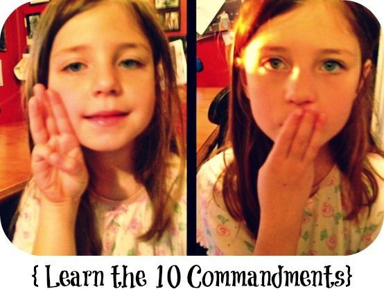 Learn the 10 Commandments with hand actions