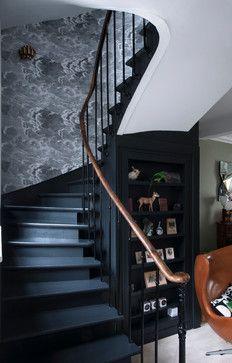 Maison de ville contemporain-escalier