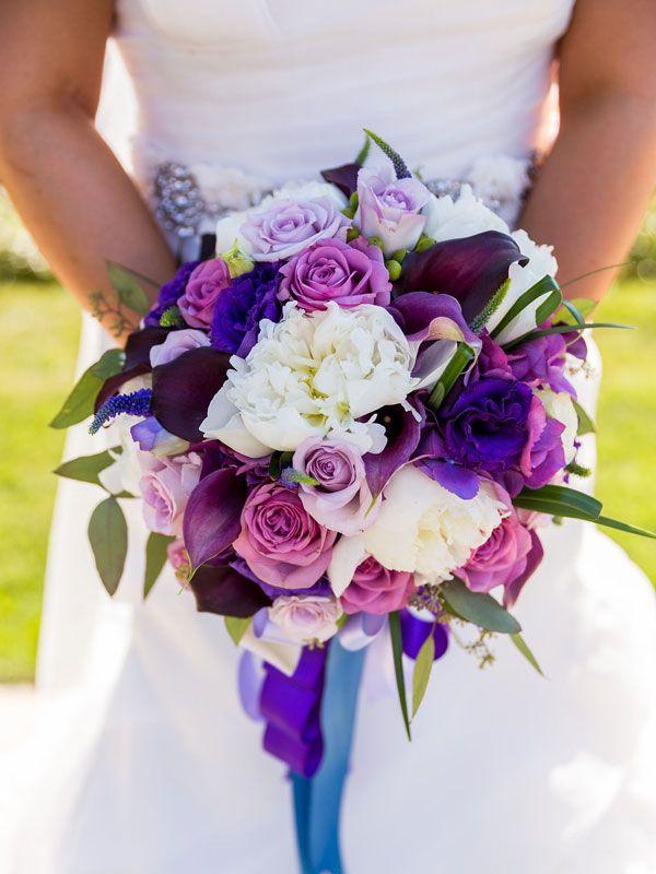Beautiful Purple Floral Bridal Bouquet