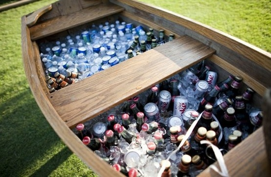 Outdoor wedding ideas - A little more classy than the kegs in the boat =)