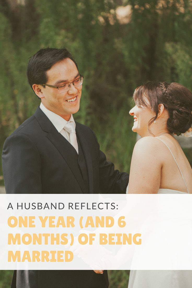 18 months after the wedding, what's changed – and what's stayed the same? A husband gives his thoughts on being married.
