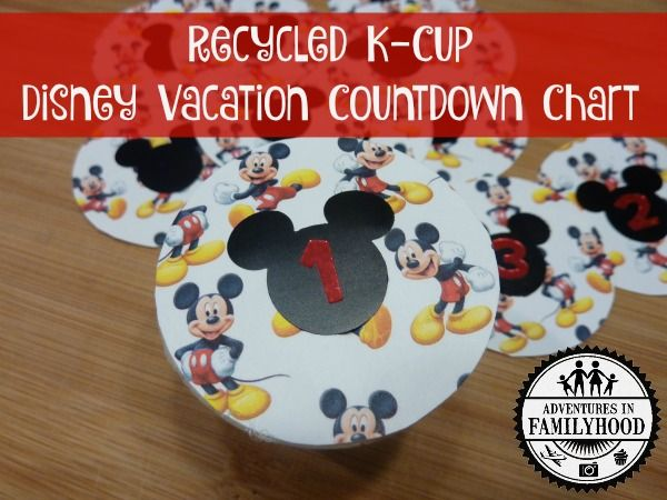 Upcycle K-cup Disney Countdown Chart