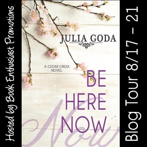 awesome Be Here Now (Cedar Creek) by Julia Goda #BlogTour @julia_goda Book Title: Be Here Now Author: Julia Goda Genre: Contemporary Romance Hosted by: Book Enthusiast Promotions Six years ago, Loreley Cooper th... Debrahttp://bookenthusiastpromotions.com/be-here-now-cedar-creek-by-julia-goda-blogtour-julia_goda/ , Be Here Now blog tour button