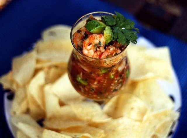 Mexican Seafood Cocktail :: Campechana de Mariscos | Jennifer Cooks [shrimp, lump crab meat, avocado, fresh lime juice, ketchup, chilli sauce eg Heinz, cilantro, evoo, white onion finely chopped, parsley, tomato–clam cocktail such as Clamato, fresh tomatoes, fresh oregano, Tabasco, anaheim chiles roasted, garlic, serrano chils]. #fancyfood
