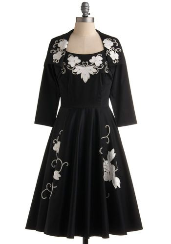 Great party dress.  You especially got to love a dress that comes with a matching jacket.