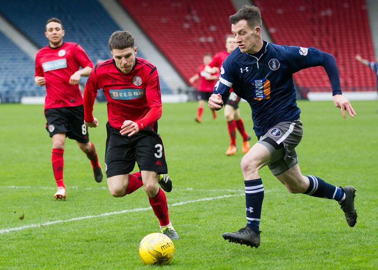 Queen's Park's David Galt in action during the Ladbrokes League One game between Queen's Park and Brechin City.