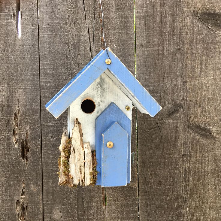 Rustic Birdhouse Farmhouse Country Handmade Functional Garden Birds Nest Bird House Hand Painted,Yard Birdhouses For Sale, Item #510909318 by BirdhousesByMichele on Etsy