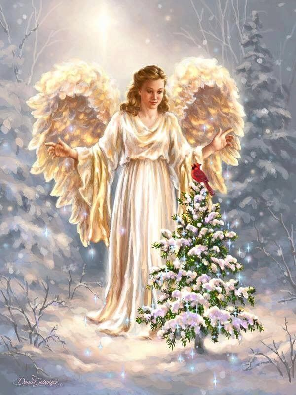 картинки зима ангелочки